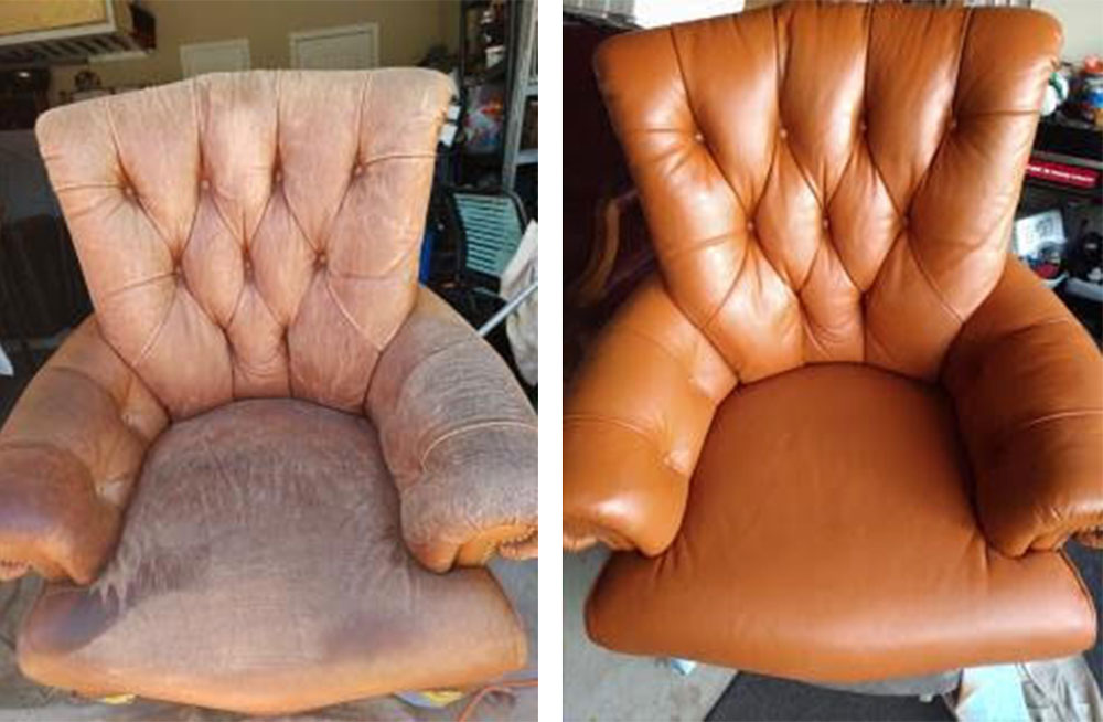 Before After Leather Chair