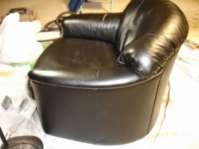 Black Barrel Chair After 12 06
